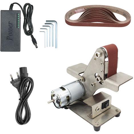 Mini Ponceuse Sable Ceinture Machine De Bureau Sander Ceinture Poncage Ponceuse Electrique Bricolage Machine A Polir, 895