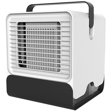 Mini Portable Air Conditioner Fan with LED Lights, White