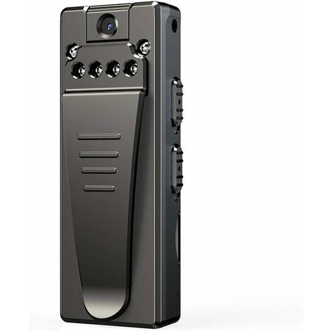 Mini Portable Camera Espion ,1080P Spy Cam sans Fil Nanny Caméra Cachée avec Détection de Mouvement et Vision Nocturne, Interieur /Exterieur Micro Camera Surveillance (avec Carte 32 Go)