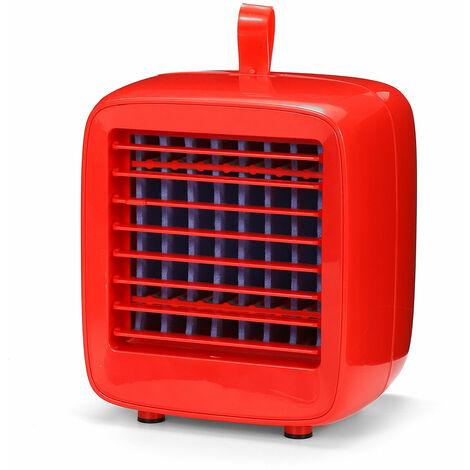 Mini portable USB rechargeable refroidisseur Ventilateur bureau extérieure maison (rouge)
