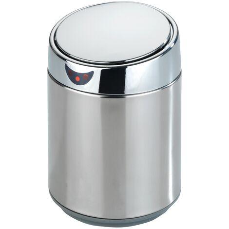 Mini poubelle de table avec capteur Senso chromé