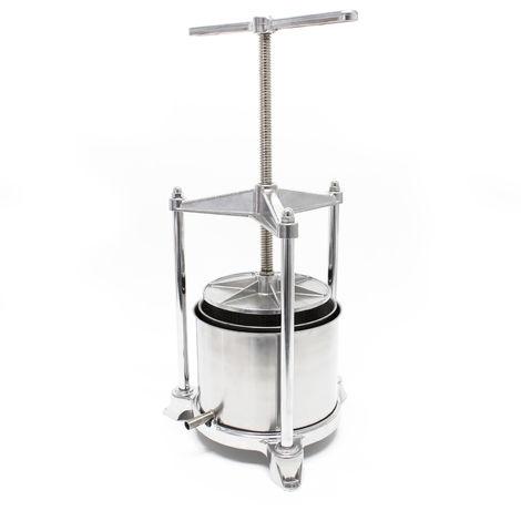 Mini prensa de frutas de acero inoxidable 5 litros
