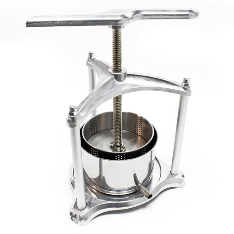 Mini Pressoir à Baies Presse de jus Aluminium 3l Cuve en acier inoxydable