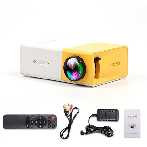 Mini Projecteur Video Accueil Exterieur Projecteur Video Avec Interfaces Av Usb Hd Telecommande 400 Lux Projecteur Led (Batterie Non Incluse)