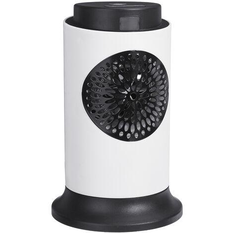 Mini radiateur électrique portatif de ventilateur en céramique à télécommande 1000W