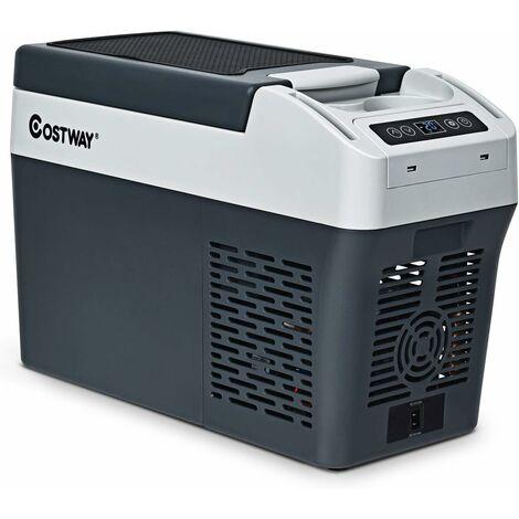 Mini Refrigerador 12L Nevera Portátil para Automóvil con Panel de Control LED Bombilla Interna para Acampar Viajar Picnic