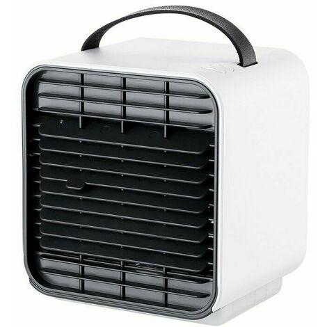 Mini Refroidisseur d'air mobile humidificateur climatiseur silencieux d'espace personnel Ventilateur brumisateur Purificateur Blanc
