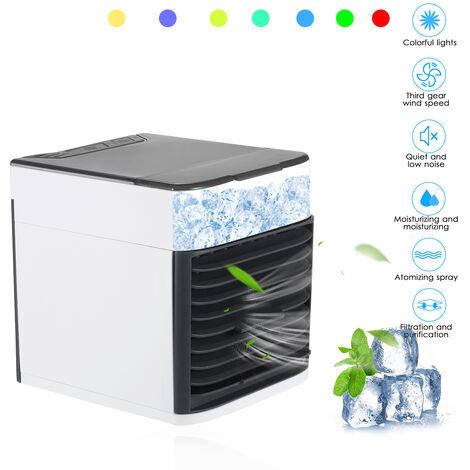 Mini refroidisseur d'air USB, mini ventilateur domestique a pulverisation multifonctionnelle, petit refroidisseur d'air de bureau de dortoir