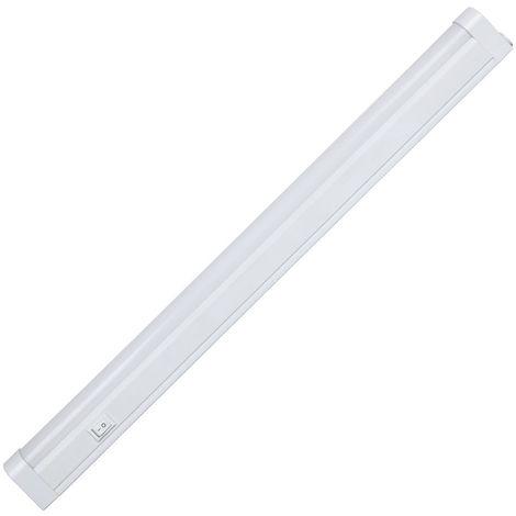 Mini Regleta LED con Interruptor Tubo T8 G13 1X6W 460lm 6000K 20000H 7hSevenOn