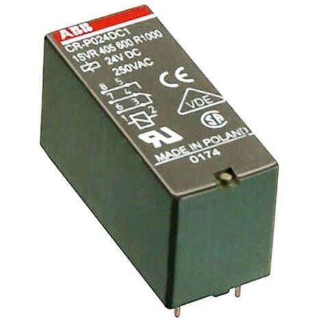 Mini Relé Abb 24VDC 2 contactos de exchange, 8A, 250V ER 521 5