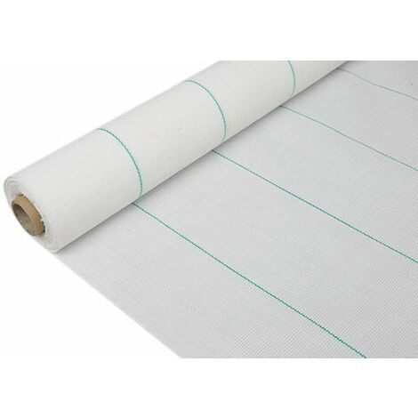 Mini rollo de Malla antihierbas extra 1,05 x 10 blanca