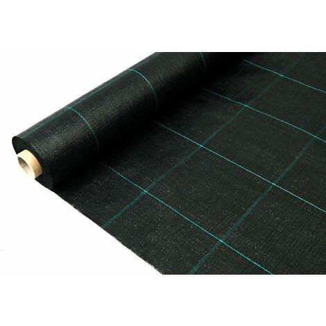 Mini rollo de Malla antihierbas extra 1,05 x 10 negra