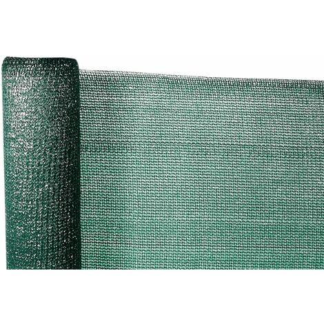 Mini rollo de malla ocultacion total 95% (140g/m2) 2 x 10 verde oscuro