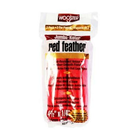 Mini rolls rabbit's foot 11.5cm x 6mm red feather Jumbo Koter Wooster RR311 4-1 / 2 x2