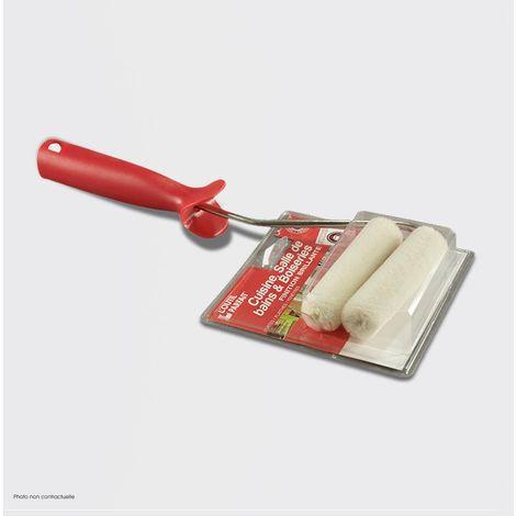 Mini Rouleau Laqueur velours - Rouleau Kit de 2 Réf 2550029 - L'Outil Parfait