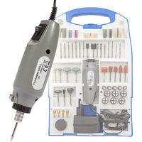 Mini Schleifer Set 110-tlg. - Schleifmaschine, Schleifgerät, Multischleifer - grau