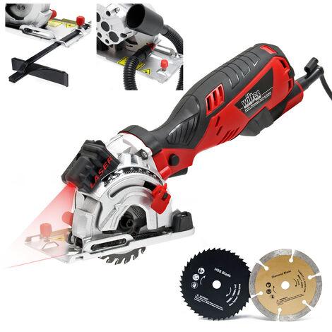 Mini scie-circulaire 705 W Guidage de coupe au laser 4500 tr/min Profondeur max. de coupe 28,5mm