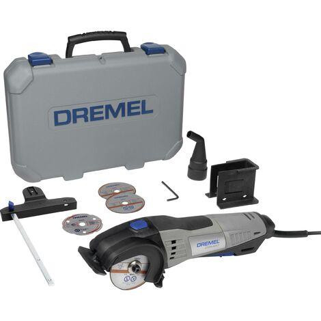Mini scie circulaire + accessoires, + mallette 8 pièces Dremel DSM 20-3/4 F013SM20JA 710 W C98264