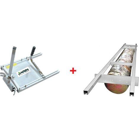 Mini-scierie mobile avec échelle pour tronçonneuse avec guide de 35 à 50cm