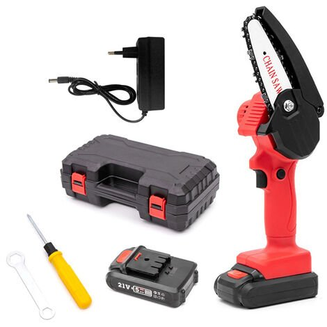 Mini sega elettrica da potatura elettrica portatile da 4 pollici sega a catena leggera a batteria a batteria per taglio del legno del ramo di un albero