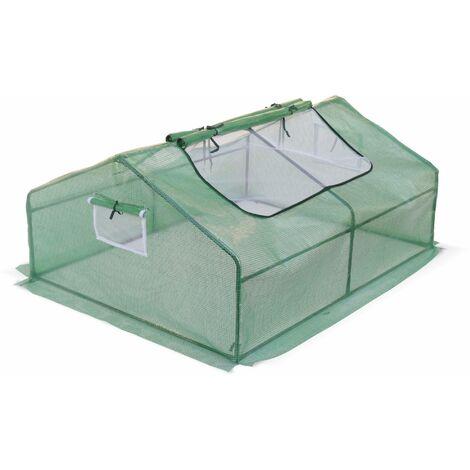 Mini serre de jardin Ciboulette 2,5m², serre châssis en polyéthylène