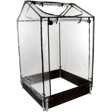 """Mini-serre """"Tom Nursy"""" pour potager Modulo Garden - 100 x 100 x H160 cm"""