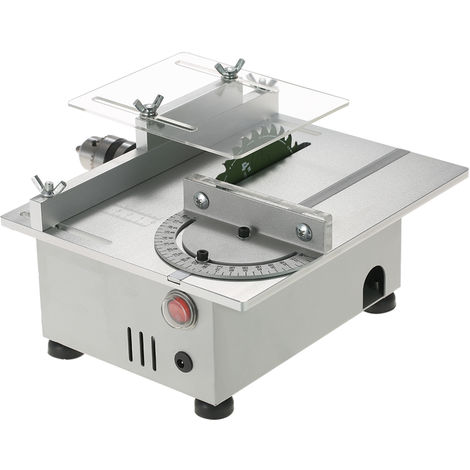 Mini sierra de mesa Sierra de banco para carpinter¨ªa de aluminio, Sierras modelo de precisi¨®n, 7000 RPM, CC12-24V, 100W