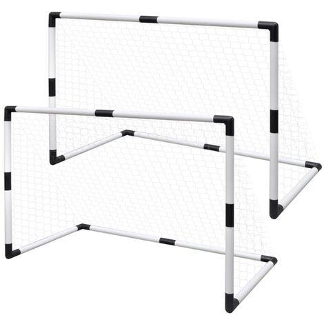 Mini Soccer Goals Post Net 2 pcs for Kids 91.5 x 48 x 61 cm