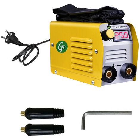 Mini soldadora electrica domestica portatil ajustable de corriente 20-250A, equipo de soldadura digital IGBT, con pantalla ZX7-250