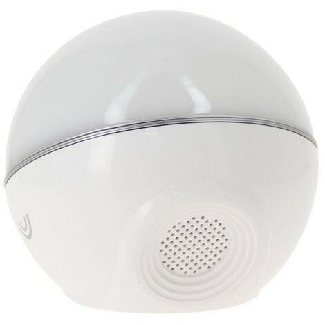 Mini sphère Sonolux - blanc et multicolor - haut parleur bluetooth
