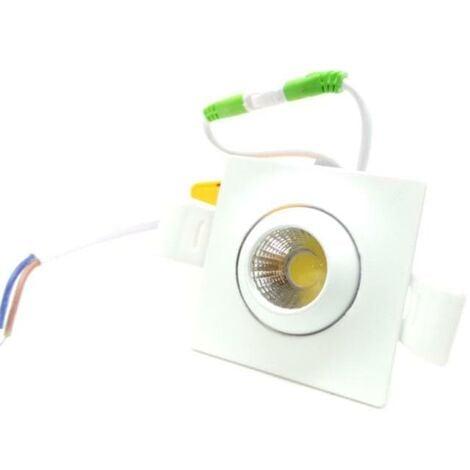 Mini-Spot Encastrable LED 3W Orientable Carré