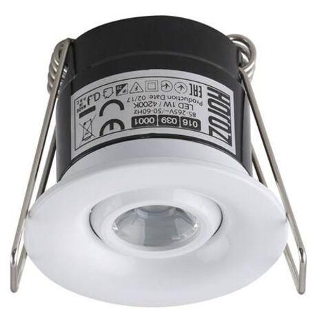 Mini spot LED 1W orientable rond blanc