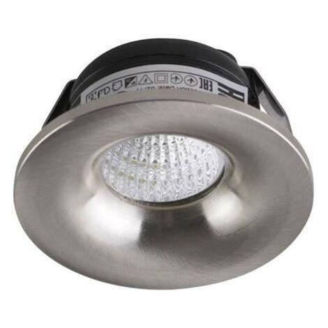 Mini spot LED 3W fixe rond Mat chrome