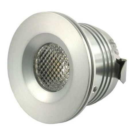 Mini spot LED encastrable 1W 12 Volts