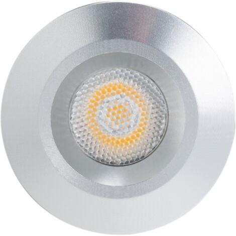 Mini spot LED encastrable 1W DC12V - Blanc Chaud 3000K