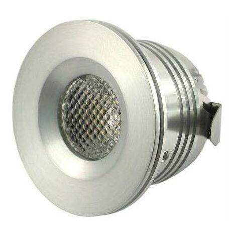 Mini spot LED encastrable 1W DC12V - Blanc Naturel 5000K
