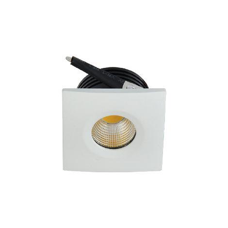 Mini spot LED encastrable carré EVA-2 3W 3000K