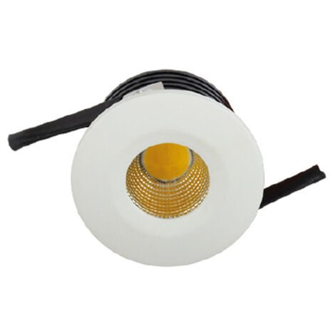 Mini spot LED encastrable rond EVA-1 3W (Eq. 24W) 6500K Blanc Diam. 40mm