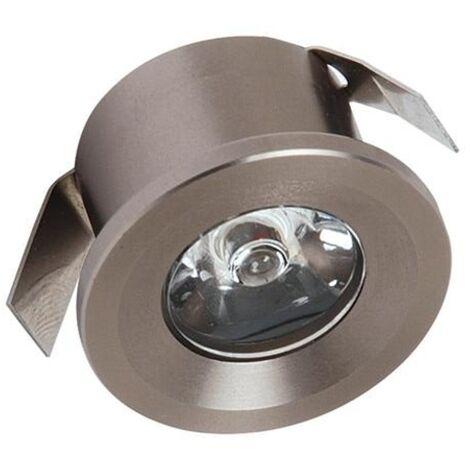 Mini spot LED fixe 1W 4200K Mat chrome