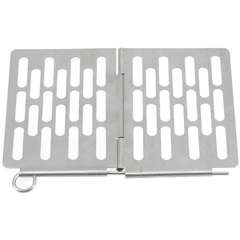 """main image of """"Mini Stainless Steel Folding Barbecue Basket Portable BBQ Grill Basket Grate"""""""