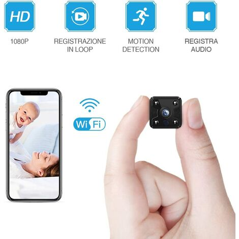 """main image of """"Mini Surveillance Camera I WiFi HD 1080P Mini Surveillance Camera Nanny Security with Motion Detection and Infrared Night Vision for iPhone / Android Phone / iPad"""""""