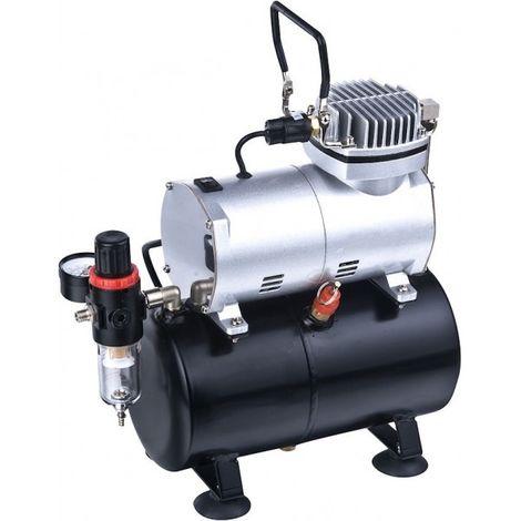 Mini tanque compresor 3 litros tc-20t aerografo pintura coche y moto 1/5 hp