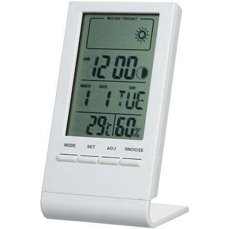 Mini termometro digital higrometro interior, ¡æ / ¨H, medidor de monitor de humedad,blanco