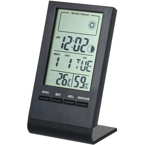 Mini termometro digital higrometro interior, ¡æ / ¨H, medidor de monitor de humedad,negro
