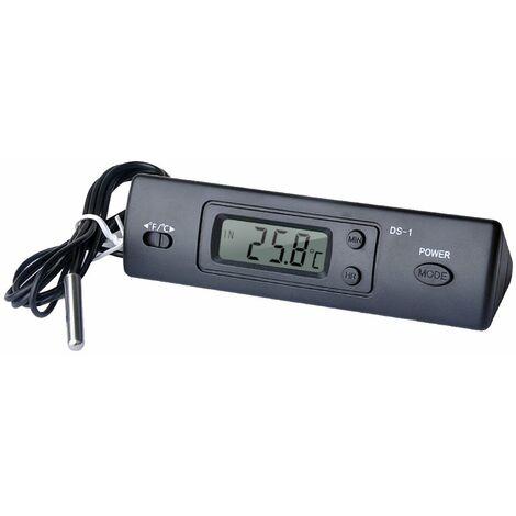 Mini termometro, termometro digital electronico para automovil, con sonda