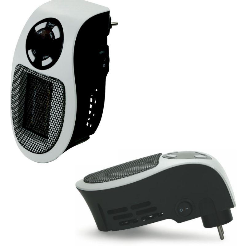 Mini Termoventilatore Stufa Elettrico 500 W Con Timer Da Parete 2 Velocità