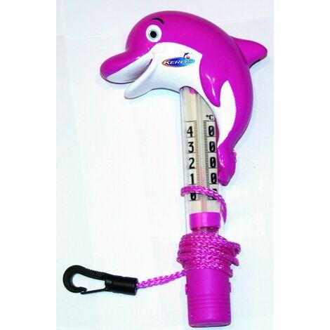 Mini thermomètre de piscine Dauphin Kerlis - Rose