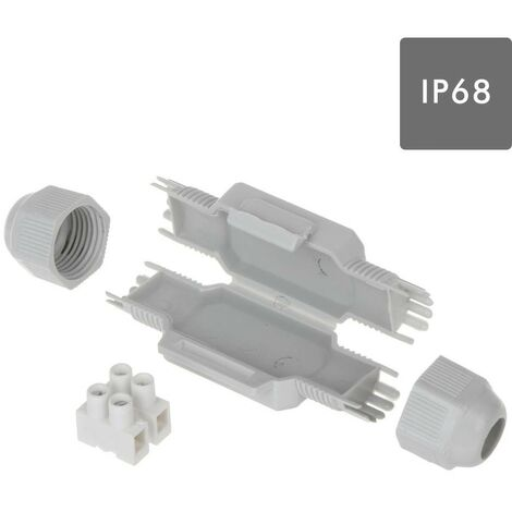 "main image of ""MINI TORPEDO ESTANCO CON GEL IP68 Y REGLETA 2x2,5mm. BLISTER 1UND"""