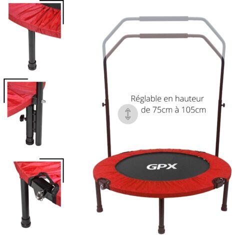 Mini Trampoline Fitness ø92 cm Pliable avec Double Bar réglable – Choix couleur