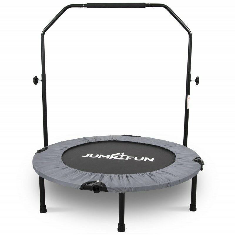 Mini Trampoline Fitness Pliable Double-Bar - Ø92cm Gris - Gris - Jump4fun